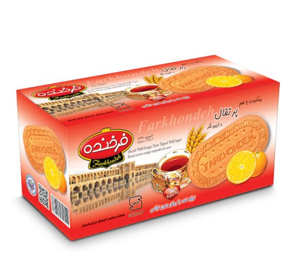 Biscuit with Orange Taste Decorated with Sugar (Model 1000)